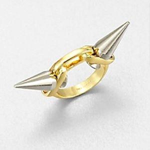 ⚜ Joomi Lim Spike Two-Tone Ring ⚜